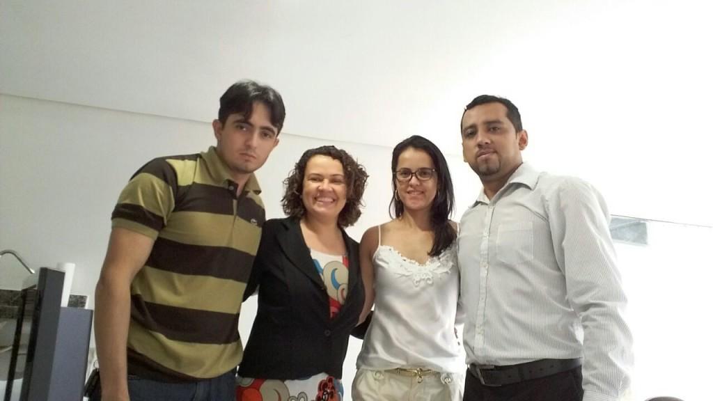 Dr. Daniel dos Santos (e), agente fiscal; Dra. Lilian Rose, coordenadora DEFIS; Dra. Alessandra Ribeiro, Delegada, e Dr. Daniel de Almeida (d), Delegado empossado durante o evento.