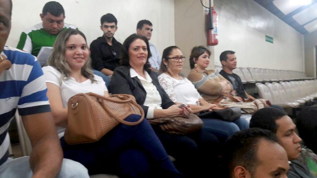 A terapeuta ocupacional Dra. Alessandra Feijão (c), conselheira do Crefito-12, representou o o Conselho durante a Audiência Pública.